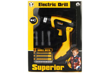 KIDS CHILDRENS BATTERY OPERATED CORDLESS PRESS DRILL ROLE PLAY BUILDER DIY TOY