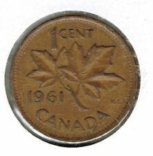 1961 Canadian Circulated One Cent Elizabeth II Coin!