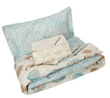 Discoveries Casual Sea Breeze Comforter Set, Twin, Blue Free Shipping