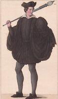 Portrait Bedeau Université de Paris Henri III Rectorat Appariteur Huissier Masse