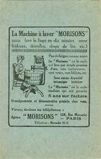 carte publicitaire machine à laver Morisons Paris ca 1900 école Cordon bleu