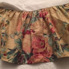 Ralph Lauren Elsa Grasslands Queen Bed Skirt/Ruffle Euc