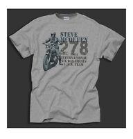 King of Cool Biker Steve McQueen Trial Bike Design 1964 Sport Grey T-Shirt