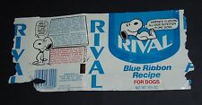1974's Rival Dog Food Label w/ Snoopy of Peanuts