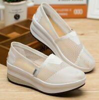 Women Summer Breathable Casual Shoes Thick Sole Nurse Shake Shoes Pull On Sandal