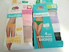 Fruit of the looms breathable micro mesh bikinis/cotton mesh hipsters lot sz 9x