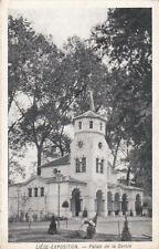 CPA BELGIQUE BELGIUM LIEGE exposition palais de la serbie écrite 1918
