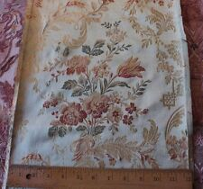 """Antique French Floral & Ribbon Silk Brocade Home Fabric c1870-1880~30""""L X 12""""W"""