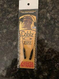 "Cablz Sunglasses Eyewear Holder ZipZ  Retainer 14"" Adjustable Black"