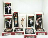 LOT OF 12 Sport Related Hallmark Keepsake Ornaments W/Boxes FOOTBALL BASEBALL