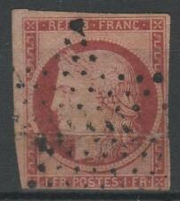 "FRANCE STAMP TIMBRE N° 6 B "" CERES 1F CARMIN FONCE 1849 ""OBLITERE A VOIR  N829"