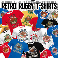 Team Rugby Mens TShirt 6 NATIONS World cup Wales Ireland England Scotland France