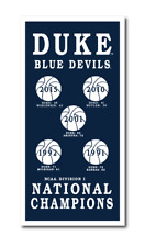 Duke Blue Devils NCAA National Championship  Basketball Banner