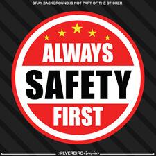 Always Safety First Hard Hat Sticker Helmet Decal Label Employee Worker Safe 2