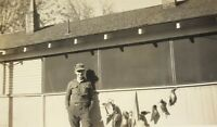 Hunting Season 1938 Man With A String Of Ducks Photograph Vintage Picture