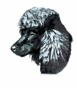 Machine Embroidered Applique Poodle size 5.5W X 5.9H or 2.4W X 2.8H