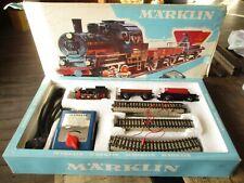 Marklin-Coffret circuit train de marchandises complet&aiguillage&transfo
