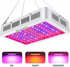 1000W LED Full Spectrum Grow Light w/ Bloom & Veg Switch- NO Hanging Cables K5+