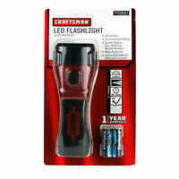 Craftsman 4AA LED Flashlight #93687 Rubber Grip Kickstand Water Resistant 123 LM