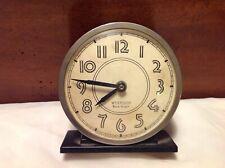 Vintage Westclox Black Knight Mechanical Alarm Clock W/Glow In The Dark Numbers