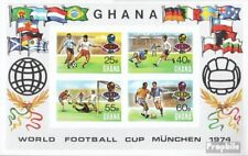 Ghana block57b (complete.issue.) unmounted mint / never hinged 1974 Football