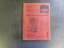 Hatz Diesel E80G E80FG  E85G E85FG E89G E89FG Instruction Book