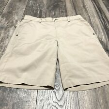 Greg Norman Golf Shorts Beige Poly/Spandex Size 32
