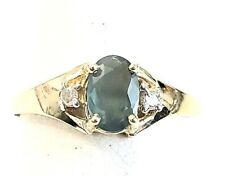 Natural  Oval Alexandrite .39tcw Diamond .02tcw 14k yellow gold ring sz 6 NWOT