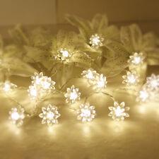 """86.6"""" Flower Shape Warm white 20-LED String Lamp Fairy Lights Diwali Decor"""