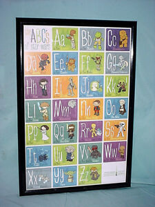 ABC's Of STAR WARS Celebration Europe Germany Framed ALPHABET POSTER Litho 2013