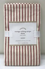 NEW Pottery Barn Vintage Ticking Stripe STANDARD Sham, RED