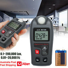 New Digital Lux Flash Meter Photometer Tester w/ LCD Display Measuring Tester AU
