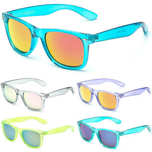 Retro Rewind Translucent Crystal Sunglasses Vintage Fashion Men Women Glasses