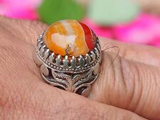 orient silber Afghanistan Karneol statement ring Carnelian aqeeq ringNr:17/449