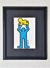 Vintage Keith Haring Rare MAN HOLDING RADIANT BABY Lithograph Print