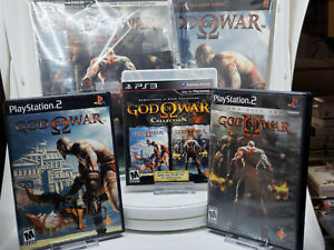 CIB God of War, God of War 2 PS2 w/ God of War Collection PS3 w/Strategy Guides