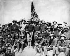 New 8x10 Photo: Future President Theodore Roosevelt with his Rough Riders