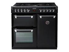 Stoves Rich 900dft Bk 90cm Black Dual Fuel Range Cooker