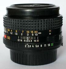 Minolta 50mm f2 lens in Minolta fit.