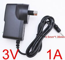 AC 100V-240V Adapter DC 3V 1A Switching power supply 1000mA AU 3.5mm x 1.35mm