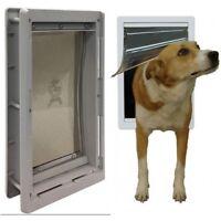 Pet Door Flap Lockable Extreme Weather Exterior Medium Size Dog Puppy Cat Animal