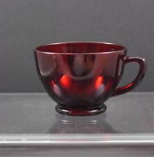 "Vintage Anchor Hocking Dark Red Depression Glass Punch Or Snack Cup 2 3/8"" G3"