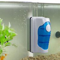 Aquarium Magnetic Brush Glass Algae Scraper Cleaner Floating Curve Tide