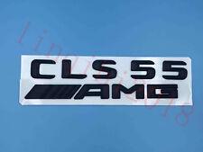 """Matte black """"CLS55 + AMG"""" Letters Trunk Embl Badge Sticker for Mercedes Benz CLS"""