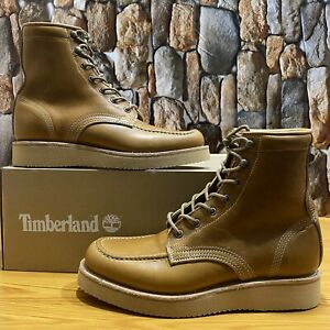 TIMBERLAND MEN'S AMERICAN CRAFT MOC TOE WATERPROOF MEN'S SHOES 0A1S5D2 SIZE 7M
