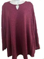 Ladies Purple Top Tunic By Grace Evans Plus Size 18