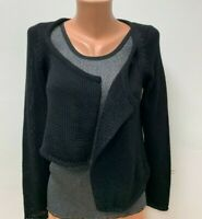 ISCHIKO by OSKA size 40 UK 10 Black Cardigan Sweater Knitted