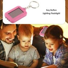 Portable Key Chain LED Flashlight Solar Power Light Torch Outdoor Emergency Lamp