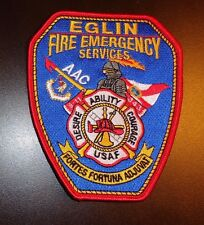 USAF PATCH, 343RD CIVIL ENGINEER SQN,EGLIN AFB,FIRE AND EMERGENCY SERVICE,TYPE 1