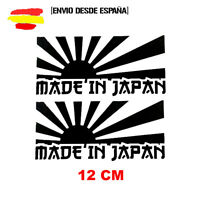 2 PEGATINAS CODIGO DE BARRAS MADE IN JAPAN BANDERA JAPO VINILO STICKER JDM